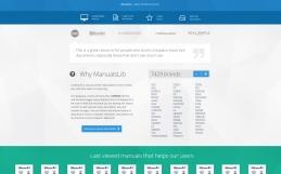 Дизайн и верстка веб-сервиса ManualsLib.com